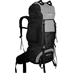 TETON Sports Explorer 4000 Internal Frame Backpack; High-Performance Backpack for Backpacking, Hiking, Camping; Metallic Silver
