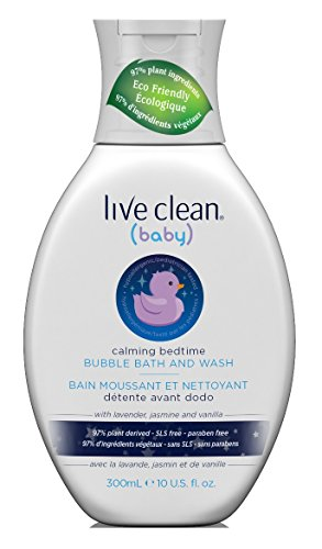Live Clean Baby Bubble Bath & Wash 10 Ounce Calming Bedtime (295ml) (2 Pack)