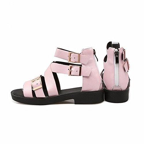 astilleros Damas sandalias hebilla grandes sandalias Pink alto hebilla de verano nnvFO86