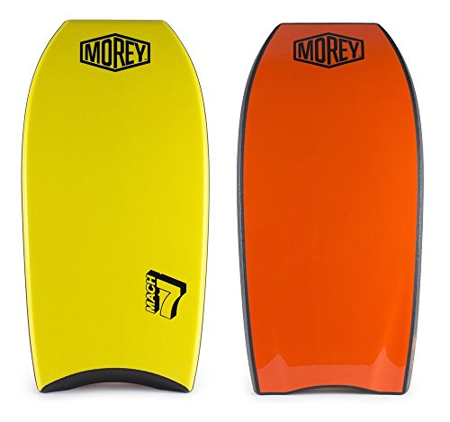 "Morey Mach 7 41-43"" Bodyboard - Choose Size and Color (Yellow / Orange, 41"")"