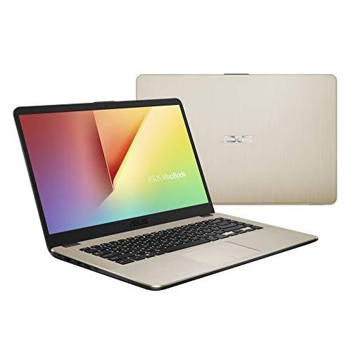 "ASUS VivoBook 15 R505ZA-BR675 - Portátil de 15.6"" HD (AMD Ryzen 5 2500U, 8GB RAM, 256GB SSD, AMD Radeon Vega 8, sin sistema operativo) Metal Oro - Teclado QWERTY Español 3"