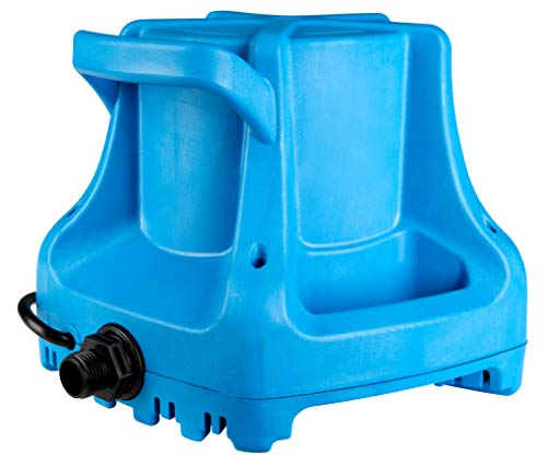 Pump Water Pool - Little Giant APCP-1700 Automatic Swimming Pool Cover Submersible Pump, 1/3-HP, 115V