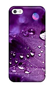 Defender Case For Iphone 5/5s, Pretty Purple Raindrops Pattern