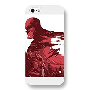 UniqueBox Customized Marvel Series Case for iPhone 5 5S, Marvel Comic Hero Daredevil iPhone 5 5S Case, Only Fit for Apple iPhone 5 5S (White Frosted Case)