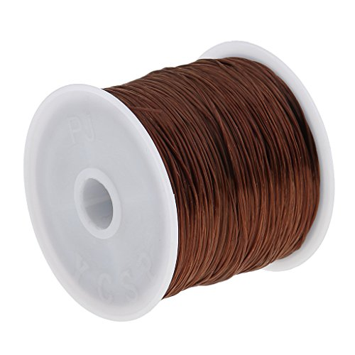 MagiDeal 60M Salon Crystal Elastic String for Hair Thread Making Weaving Wigs - Brown, as described