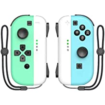 KDD Joy-pad Controller Compatible with Nintendo Switch L/R Joy Controller with Animal Crossing Theme, Buil-in Wake-up Function