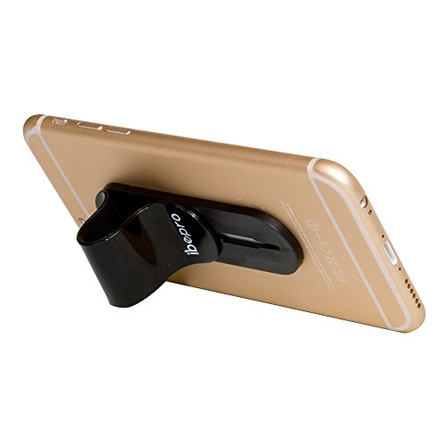 Ibepro® - Soporte para dedo para teléfono, agarre seguro, dedo antideslizante, para smartphone pequeño Tablet iPhone 5/6s/6s Plus Samsung Galaxy S7/S7 ...
