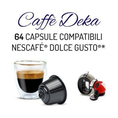Cápsulas Compatibles Dolce Gusto Descafeinado 64 bebidas: Amazon.es: Alimentación y bebidas
