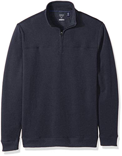 Arrow 1851 Men's Big and Tall Saranac Long Sleeve 1/4 Zip Sueded Fleece Pullover, Night Sky Heather, 3X-Large
