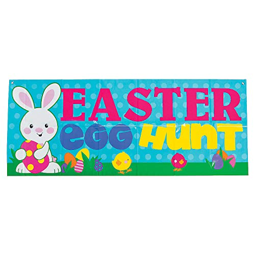 - Fun Express - Easter Egg Hunt Banner for Easter - Party Decor - Banners - General Banners - Easter - 1 Piece