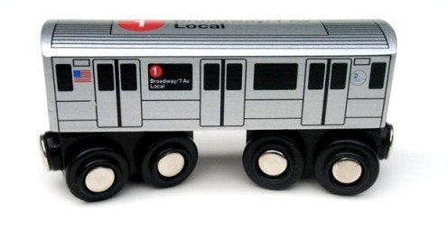 New York Train - Munipals NYC Subway 1 Car Toy Train Wooden Railway Compatible