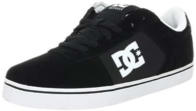 DC Men's Flux Skate Shoe,Black/White,6 M US