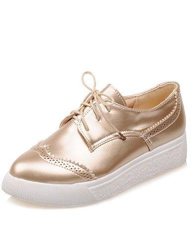 uk4 Zapatos Semicuero Oro silver us6 5 Plata Tacón cn37 5 de Plataforma 5 5 5 eu37 silver Negro 7 uk4 us6 7 cn43 ZQ mujer Plano 5 Casual eu42 uk8 5 cn37 Oxfords 5 eu37 black Puntiagudos us10 Uqxd7zzw