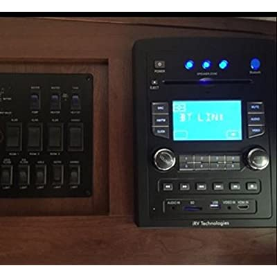 iRV Technology iRV66 AM/FM/CD/DVD/MP3/MP4/USB/SD/HDMI/Digital5.1/Surround Sound/Bluetooth 3 Zones wall mount RV Radio Stereo with wire adaptor Concertone ZX500/600/690/700,Genesis GT-3.0