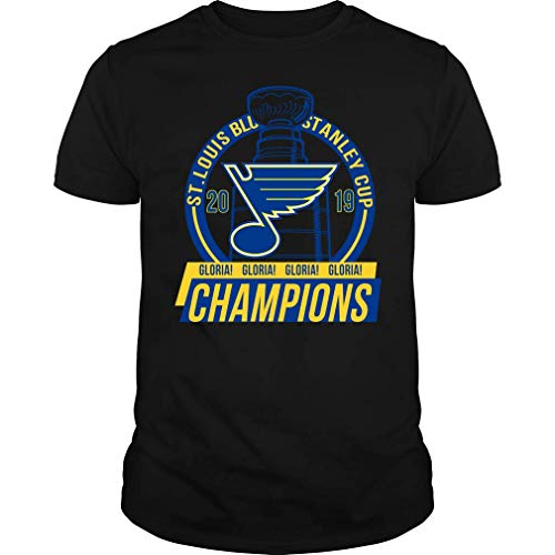 Stanley Cup Championship Blues T-Shirt (Unisex T-Shirt;Black;XXL)