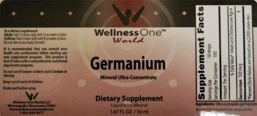 Germanium - Premium Liquid Mineral (100 days at 500 mcg Per 10 Drop Serving) 50 ml bottle