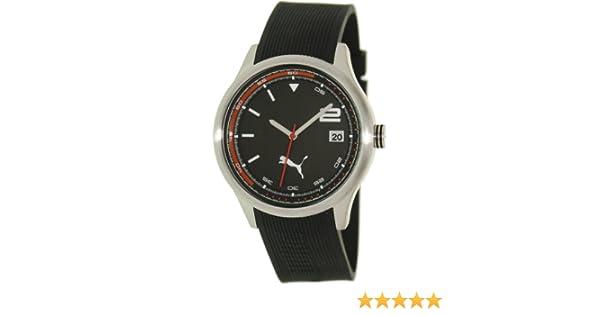 38dc0e2eb0c Amazon.com  Puma Wheel 3HD - L Silver Black Men s watch  PU102731007  Puma   Watches