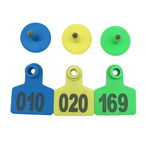 001-1000 Ear Tags Animal Identification Tags Livestock Cattle Sheep Pig Ear Mark (Blue) by General (Image #7)