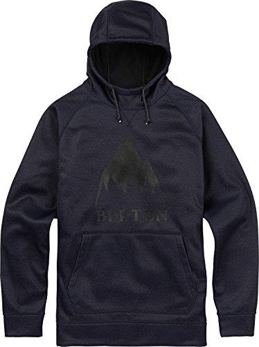 Burton Men's Crown Bonded Pullover, Mood Indigo Heather, Large