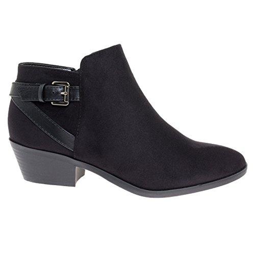 Womens Black Harness Boots - 5