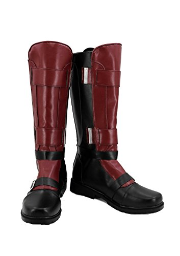 veribuy Halloween Men Hero Cosplay Shoes Guardian Costume Red Black Cosplay -