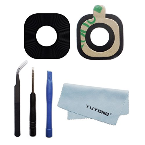 YUYOND New Back Camera Glass Lens Cover For Samsung Galaxy S7 S7 Edge + Repair Tools + Clean Cloth Replacement (Samsung Camera Lens)