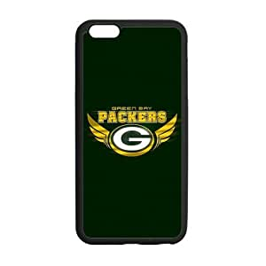 Green Bay Packers Series, Black / White Custom TPU Snap On Case For iphone 6 plus (5.5 inch)