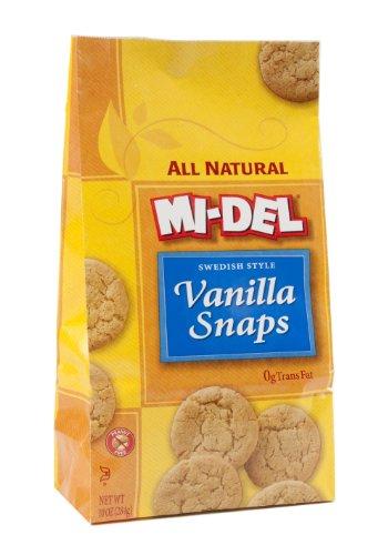 Mi-Del Vanilla Snap Cookies, 10-ounce Bags (Pack of 12) ()