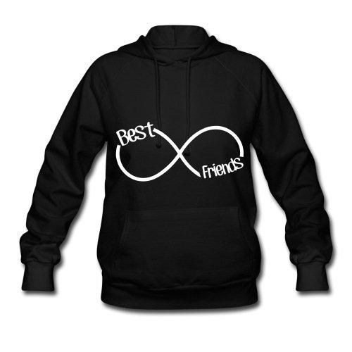 Spreadshirt Women's Stay Fly Best Friends Infinity Hoodie, Black, S