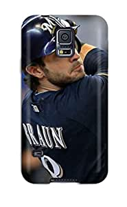 Top Quality Rugged Braun Baseball Case Cover For Galaxy S5