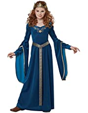 California Costumes Queen, Royalty, Renaissance, Knight Medieval Princess Girls Costume