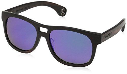 Earth Wood Las Islas Polarized Aviator Sunglasses, Ebony//Purplegreen, 53 mm - Wood Polarized Sunglasses Earth