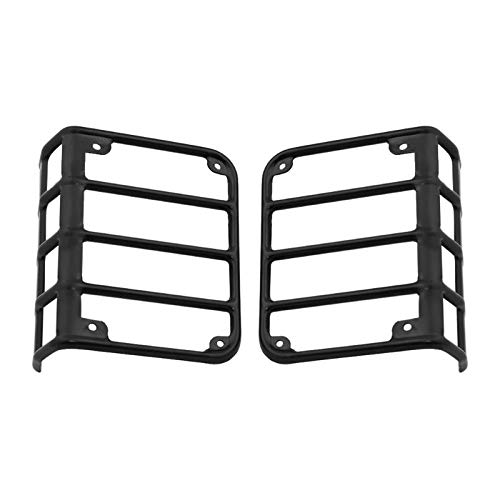 Autumn Water 1Pair Metal Rear Tail Light Guards Covers for 07-17 Jeep Wrangler Car Styling Auto Car Accessory Lamp Trim Guards Sticker
