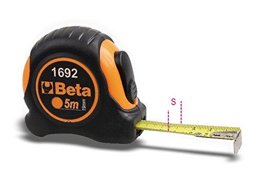 Beta 1692/5 Measuring Tape Shock-Resistant Bi-Material ABS Casing, 5 m Length Beta Tools 016920055