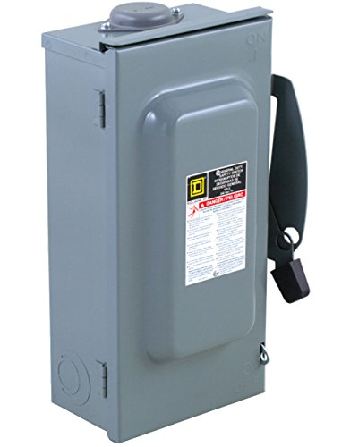 Square D by Schneider Electric D323NRB 100-Amp 240-Volt 3-Pole Fusible Outdoor General Duty Safety Switch,
