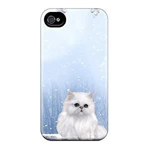 High Impact Dirt/shock Proof Case Cover For Iphone 4/4s (winters Cat)