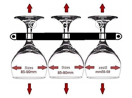 1 285/mm lang 2/X f/ür 3/breit Weinglas Halter Wohnmobil//Wohnwagen//Caravan//Wohnmobil//statisch//RV Metall Kupfer versilbert