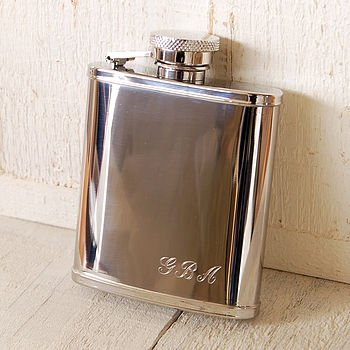 74751b9b2cae Pocket Hip Flask With Initials  Amazon.co.uk  Kitchen   Home