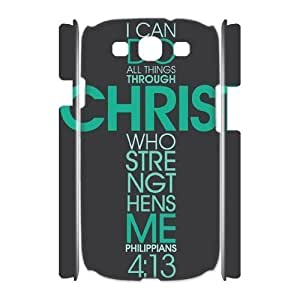 Bible Verse Brand New 3D Cover Case for Samsung Galaxy S3 I9300,diy case cover ygtg620953