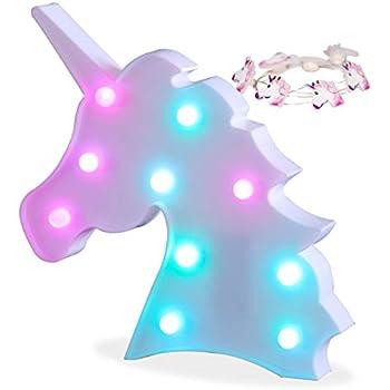 Amazon Com Aizesi Pink Unicorn Light Room Decor Unicorn