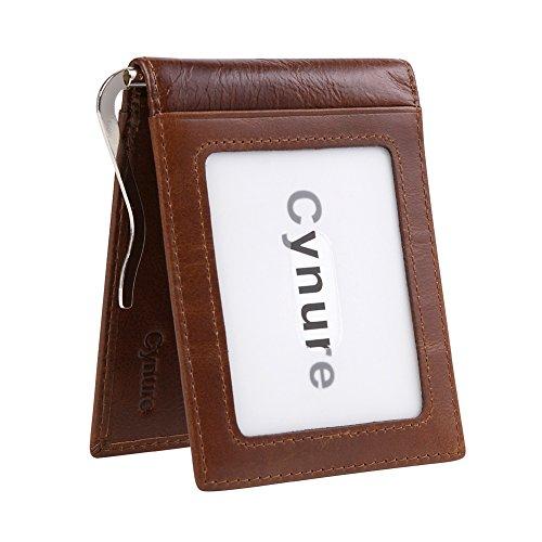 Mens 11 Cards Slots RFID Blocking Slim Wallet Small Leather Bifold Front Pocket Wallet
