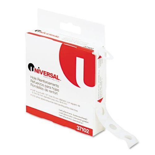 Universal® Hole Reinforcements, 1/4 Diameter, White, 200/Pack by Universal