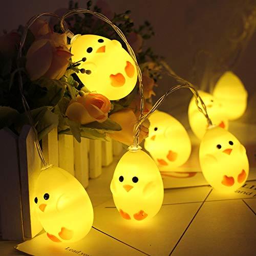 20 Luces LED de Pascua,3M luces de Pascua,Luces de huevos,Luces LED de decoración de Pascua,Guirnalda de luces de huevo…