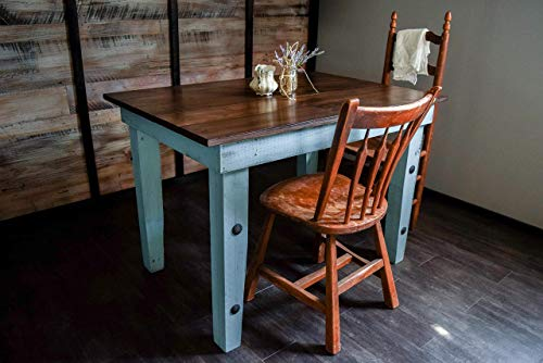 Amazon Com Dining Kitchen Nook Farmhouse Table Solid Wood