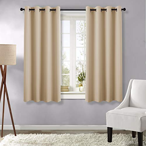 NICETOWN Blackout Curtains and Drapes for Kitchen - (Biscotti Beige Color) 52