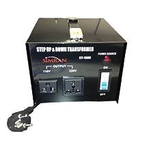 Simran ST-1500 1500-watt Step Up and Step Down Voltage Transformer Converts 220-volt to 110-volt by Simran