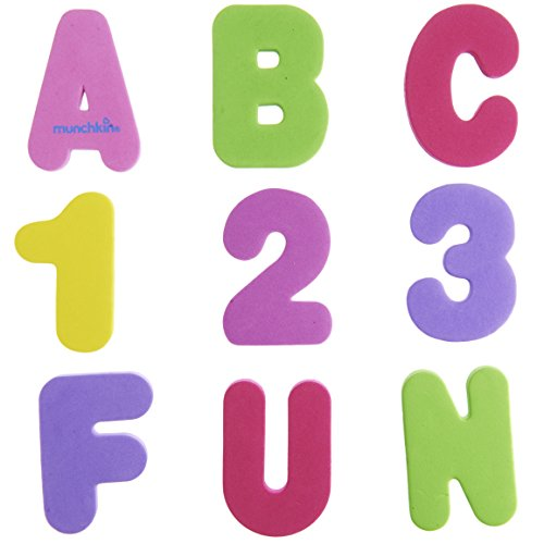 Munchkin 36 Bath Letters and Numbers, Pastel