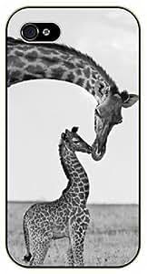Baby Giraffe and love mom - For SamSung Galaxy S4 Mini Case Cover black plastic case / Animals and Nature