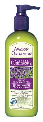 Avalon Organics Lavender Luminosité Facial Cleansing Gel, 7 onces Bouteilles (pack de 2)