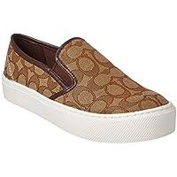 Coach Cameron Womens Khaki/Chestnut Slip On Loafer Shoes